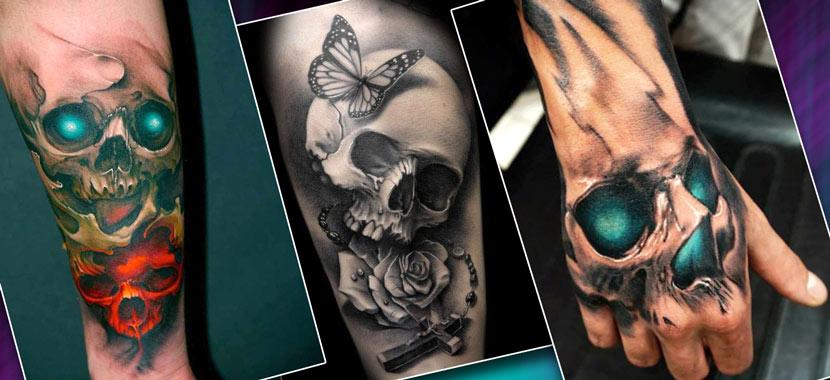 Мужские татуировки на руке, черепа