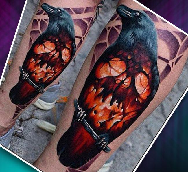 Мужские татуировки на ноге