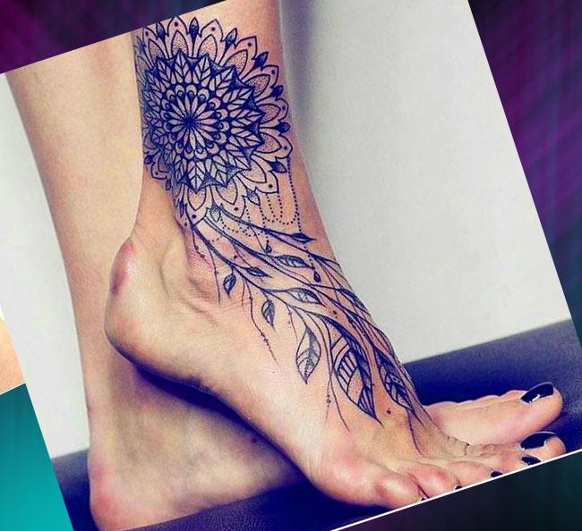 Тату на ноге: 25 фото татуировки
