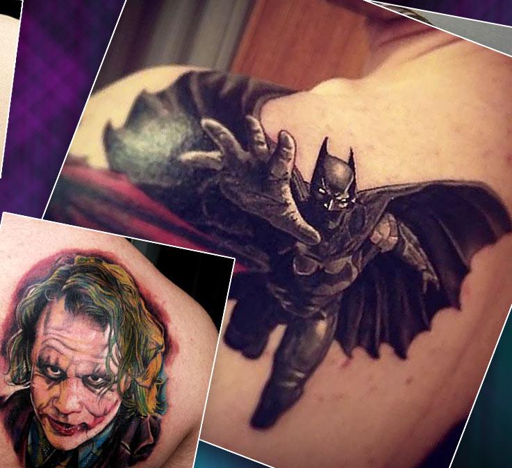 татуировки на спине с портретами