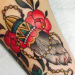 Татуировка кроличья лапка