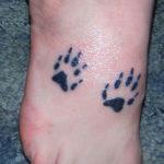 Татуировка следы кролика