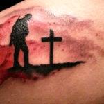 Тату маки в память о войне