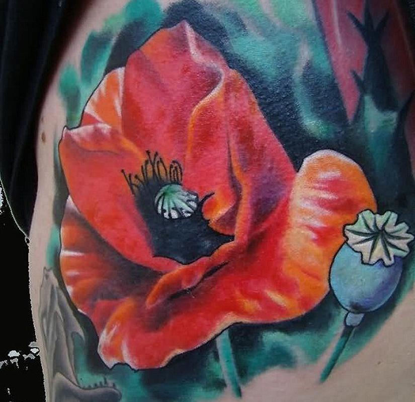 татуировка мак и маковая коробочка