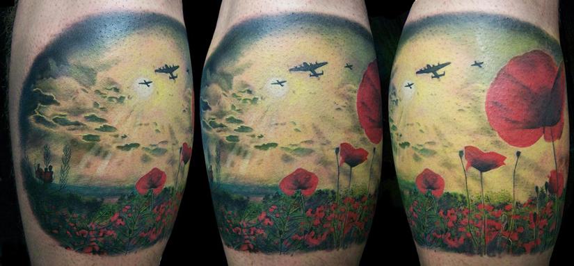татуировка с маками символ памяти