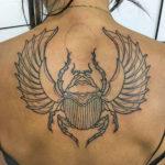 Египетская тату жук скарабей