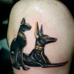 Египетская тату кошка и собака