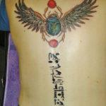 Египетская тату скарабей