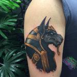 Египетская тату волк