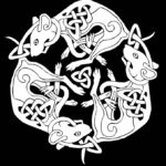 Эскиз тату крысы кельтский стиль