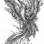 Эскиз тату феникса