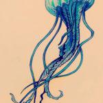 Эскиз медузы для тату