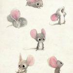 Эскиз тату мышь