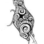 Эскиз тату мышь Полинезия