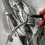 Эскиз тату смерть, скелет