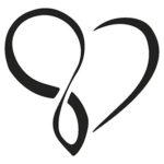 Эскиз тату бесконечности в виде сердечка