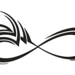 Эскиз тату бесконечности, кельтский стиль