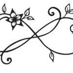 Эскиз тату бесконечности, цветы