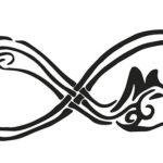Эскиз тату бесконечности в скандинавском стиле