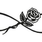Эскиз тату бесконечности с цветком
