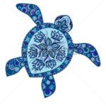Эскиз тату черепахи с красивым узором