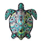 Эскиз тату черепахи с узором
