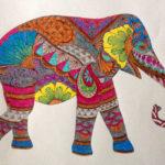 Яркий эскиз слона
