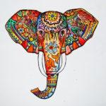 Яркая голова слона