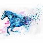 Эскиз тату коня