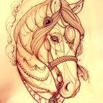 Эскиз тату лошади