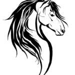 Эскиз тату лошади в кельтском стиле