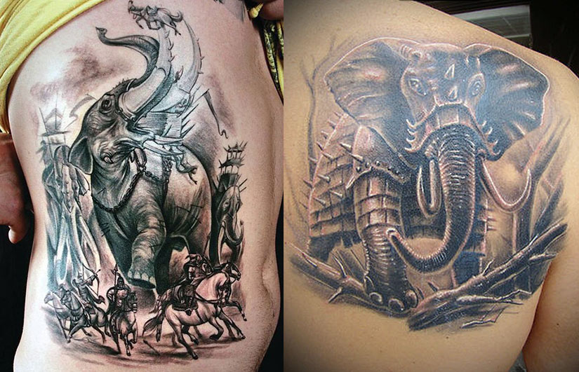 Татуировка слона на войне