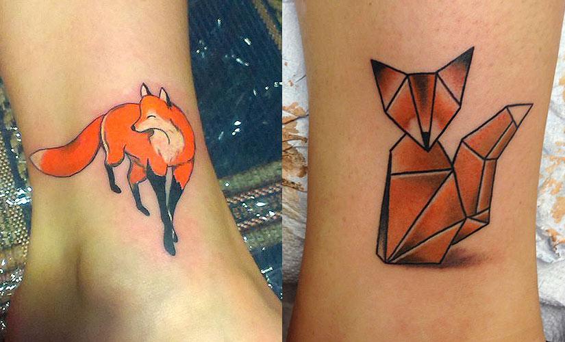 Маленькие татуировки лисы