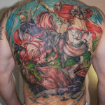 Славянская татуировка воинов на конях