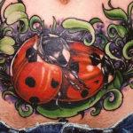 Татуировка божьи коровки