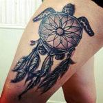 Татуировка с черепахой ловец снов
