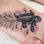 Татуировка с черепашонком