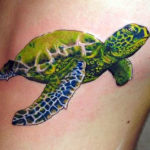 Тату зеленая черепаха