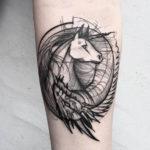 Татуировка единорога
