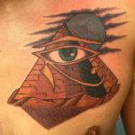 Египетская тату пирамида