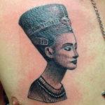 Египетская тату богиня Нефертити