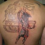 Египетская тату бог Ра
