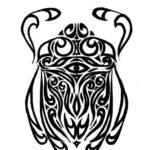 Эскиз Египетской татуировки скарабей