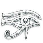 Эскиз Египетской татуировки глаз