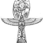Эскиз Египетской татуировки крест