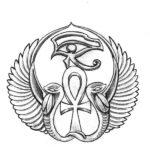 Эскиз Египетской татуировки