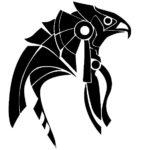 Эскиз Египетской татуировки птица