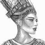 Эскиз Египетской татуировки Нефертити