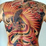 Тату феникса в японском стиле