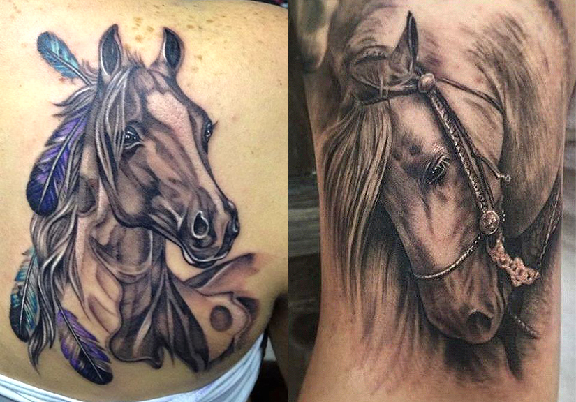 Тату голова коня